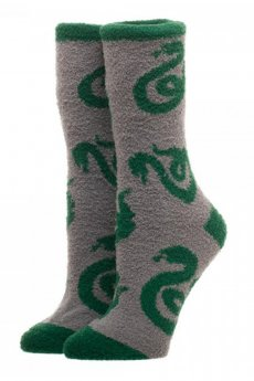 Slytherin Fuzzy Socks by Bioworld