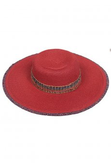 Red Straw Hat by C.C.