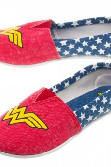 DC Comics Wonder Woman Slip On Shoes by Bioworld