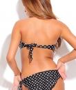 Black Polka Dot Ruffle Bikini by Lolli