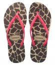 Havaianas Slim Fluorescent Animal Giraffe Sandals