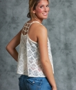 Caged Back Floral Tank Top by TCEC