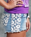 Lace Accent Shorts by Dani