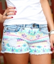 Aztec Print Denim Shorts by The Classic
