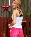 Lace Overlay Shorts by TCEC