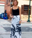 Black and White Maxi Skirt by Diosa