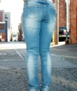 Destructed Skinny Jeans by Machine Jeans