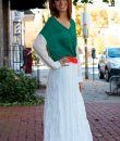 Woven Lace Maxi Skirt by Cecico