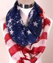 Distressed American Flag Infinity Scarf by Love of Fashion