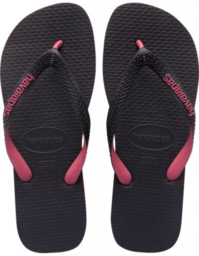 Havaianas Black And Rose Top Tred Sandal