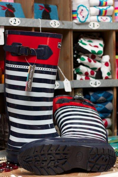 Charlie Paige Nautical Rain Boots