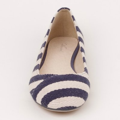 Ahoy Striped Nautical Flats by Wanted Shoes